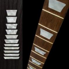 Sticker guitare touche type LesPaul® standard blanc abalone