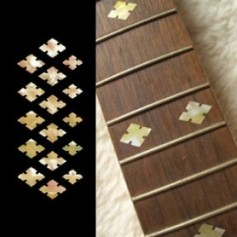 Sticker guitare touche diamant vieux blanc pearl