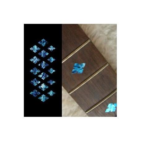 Sticker guitare touche diamant bleu abalone