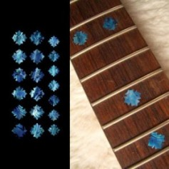 Sticker guitare touche flocon bleu abalone