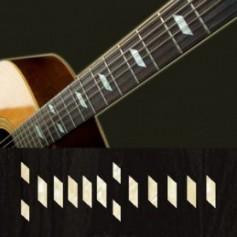 Sticker guitare touche texan Epiphone® vieux blanc pearl