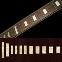 Sticker guitare touche vintage bloc vieux blanc pearl