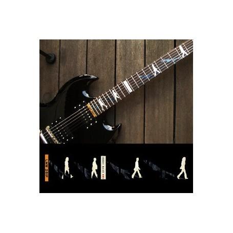 Sticker guitare touche Abbey Road Beatles