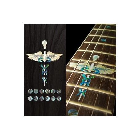 Sticker guitare touche serpent & épée