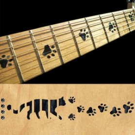 Sticker guitare touche pas de chat noir pearl