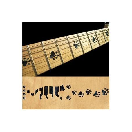 Sticker guitare touche pas de chat noir pearl