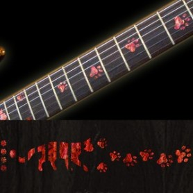 Sticker guitare touche pas de chat rouge abalone
