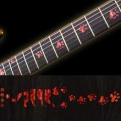 Sticker guitare touche pas de chat rouge abalone