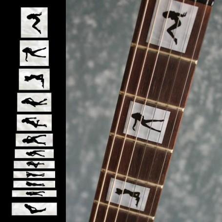 Sticker guitare touche strip teaze