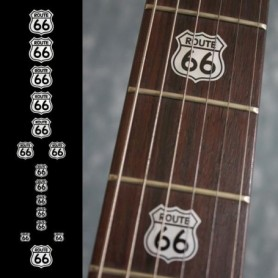 Sticker guitare touche route 66