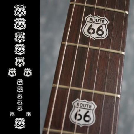 Sticker guitare touche route 66