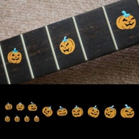 Sticker guitare touche citrouille