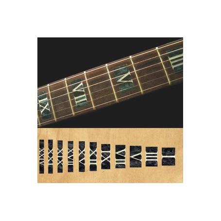Sticker guitare touche chiffres romain noir pearl