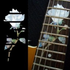 Sticker guitare touche rose