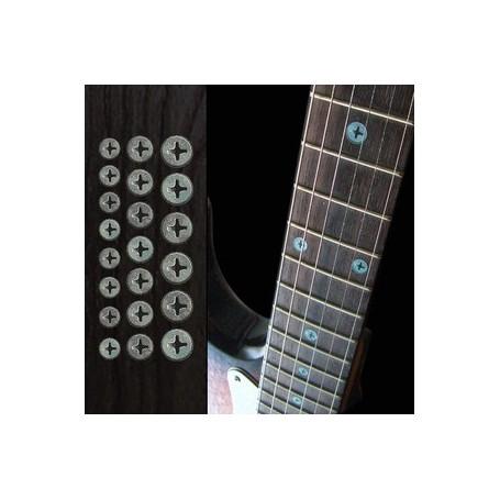 Sticker guitare touche vis