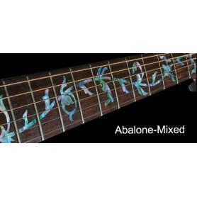 Sticker guitare touche végétal abalone mix