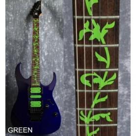 Sticker guitare touche végétal vert