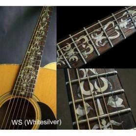 Sticker guitare touche vigne blanc abalone