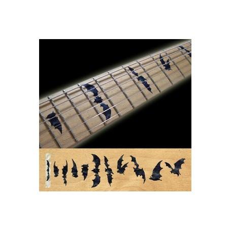 Sticker guitare touche chauve souris noir pearl