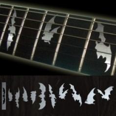 Sticker guitare touche chauve souris metal