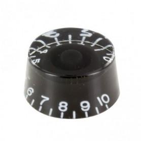 Bouton copie LesPaul cylindrique noir