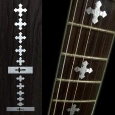 Sticker guitare touche croix métal