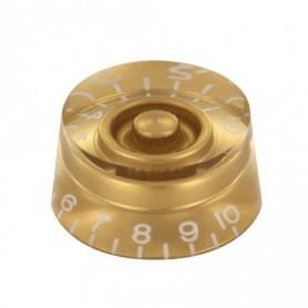 Bouton copie LesPaul cylindrique doré