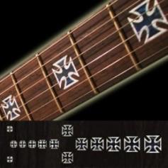 Sticker guitare touche croix de noir pearl