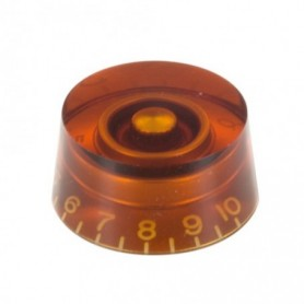 Bouton copie LesPaul cylindrique ambre