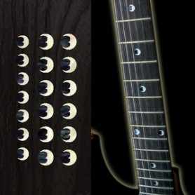 "Sticker guitare touche croissant de lune dots 5/16"" & 1/4"""
