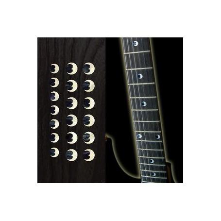 """Sticker guitare touche croissant de lune dots 5/16"""" & 1/4"""""""