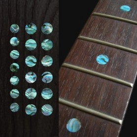 "Sticker guitare touche dots 5/16"" & 1/4"" bleu abalone"