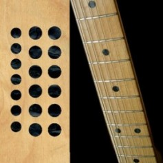 "Sticker guitare touche dots 5/16"" & 1/4"" noir pearl"