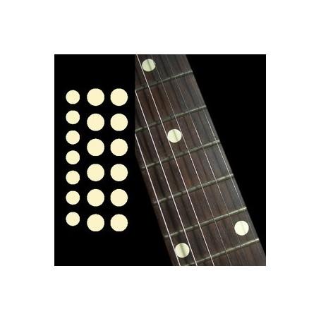 """Sticker guitare touche dots 5/16"""" & 1/4"""" crème"""