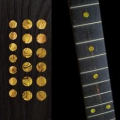 "Sticker guitare touche dots 5/16"" & 1/4"" jaune abalone"