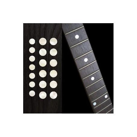 "Sticker guitare touche dots 5/16"" & 1/4"" blanc abalone"