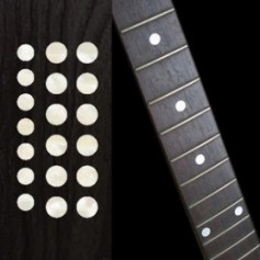 "Sticker guitare touche dots 5/16"" & 1/4"" blanc abalone"