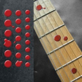 Sticker guitare touche dots sanglants