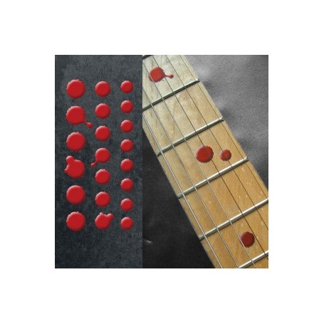 Sticker guitare touche dots sanglants
