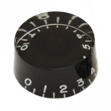 Bouton type LesPaul US cylindrique noir
