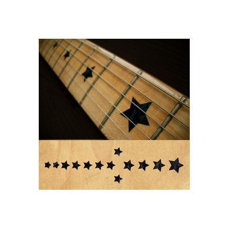 Sticker guitare touche étoiles everly brothers noir pearl