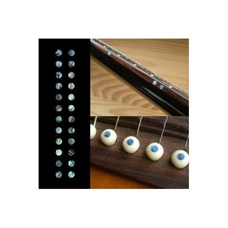 "Sticker guitare touche petis dots 1/8"" bleu abalone"