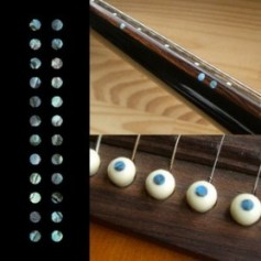 "Sticker guitare touche petis dots 1/8"" bleu abalone"
