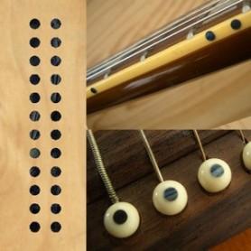 """Sticker guitare touche petits dots 1/8"""" noir pearl"""