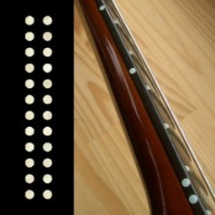 "Sticker guitare touche petits dots 1/8"" blanc abalone"
