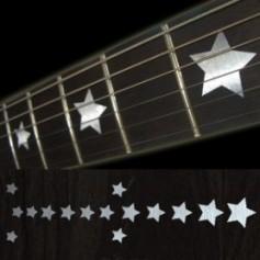 Sticker guitare touche étoiles metal