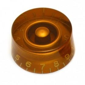 Bouton type LesPaul US cylindrique ambre