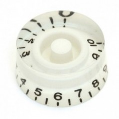 Bouton type LesPaul US cylindrique blanc
