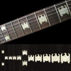 Sticker guitare signature aigle blanc abalone Jeff Hanneman