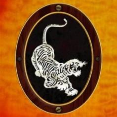 Sticker guitare signature Jerry Garcia tigre